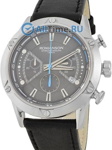 Мужские часы Romanson AL3212HMW(GR)BK