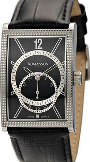 Мужские часы Romanson DL5146SMW(BK)