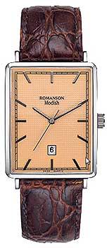 Мужские часы Romanson DL5163SMW(RG)