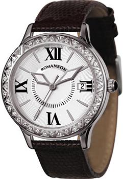 Женские часы Romanson RL1222QLW(WH)BK