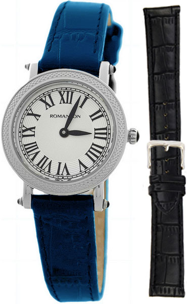 Женские часы Romanson RL1253SLW(WH)BU-BK