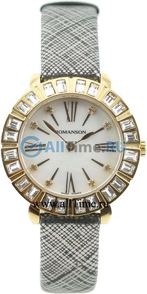 Женские часы Romanson RL1255TLG(WH)BK