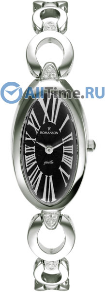 Женские часы Romanson RM0348QLW(BK)