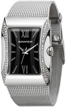 Женские часы Romanson RM0358QLW(BK)