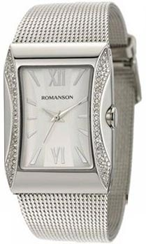 Женские часы Romanson RM0358QLW(WH)