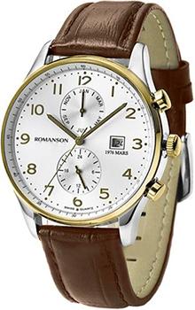 Мужские часы Romanson TL0329BMC(WH)