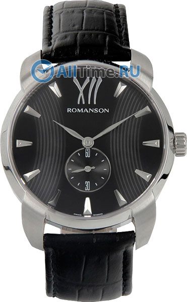Мужские часы Romanson TL1250MW(BK)BK