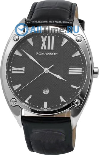 Мужские часы Romanson TL1272MW(BK)BK