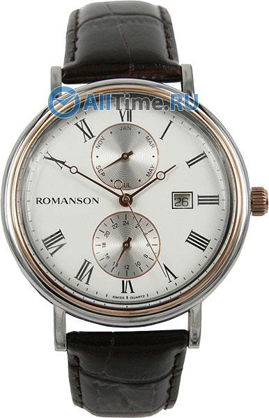 Мужские часы Romanson TL1276BMJ(WH)BN