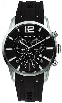 Мужские часы Romanson TL9213HMW(BK)